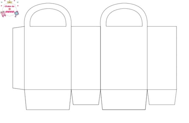 molde sacolinha de papel
